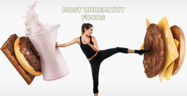 most unhealthy foods