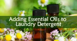 Adding Essential Oils to Laundry Detergent