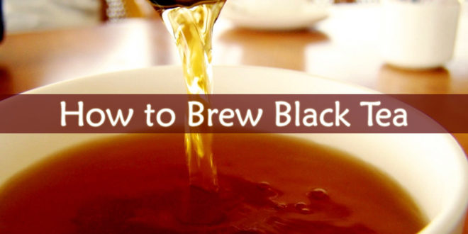 How to Brew Black Tea