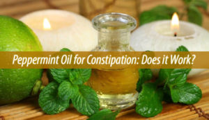 peppermint oil for constipation