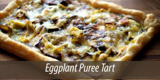 Eggplant puree tart