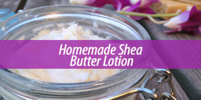 Homemade shea body butter