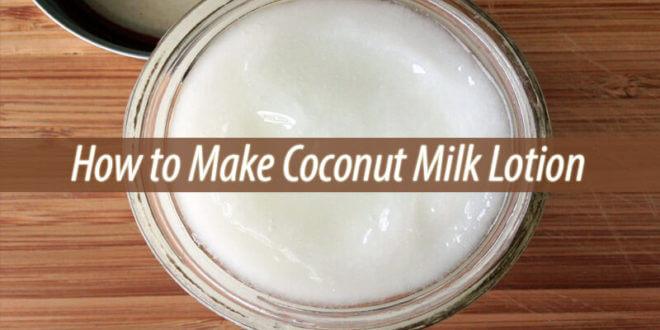 coconut milk lotion