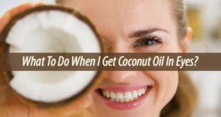 coconut oil in eyes