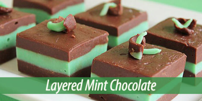 layered mint chocolate