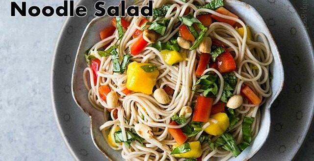 vegan tempeh noodle salad