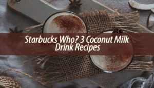 3 Coconut Milk Drink Recipes